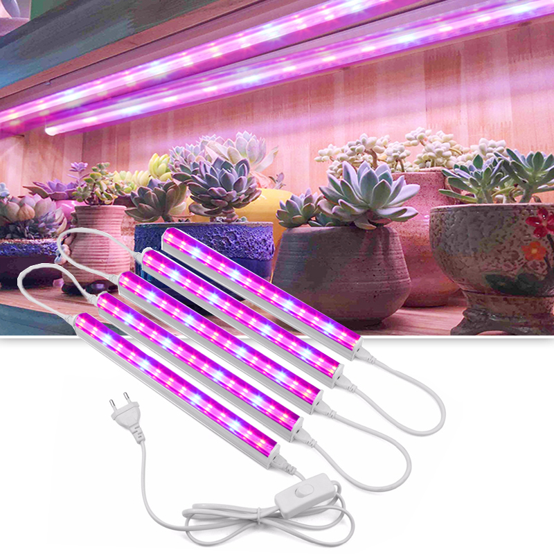 50W Led Grow Light Lamp For Plants Full Spectrum Phyto Lamp Energy Saving For Indoor Seedlings Flowers Growth Lamp Switch Cable