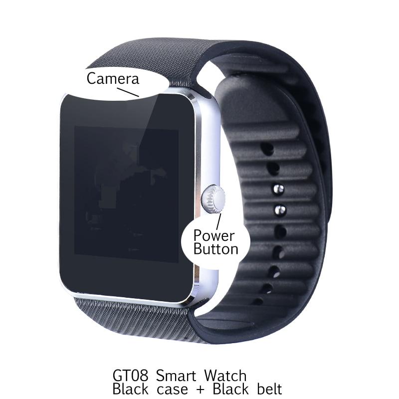 imágenes para Popular GT08 dispositivo portátil barato reloj inteligente para Android y ios bluetooth smartwatch Tarjeta SIM