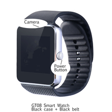 Popular wearable device cheap smart watch GT08 for Android and ios bluetooth smartwatch SIM Card