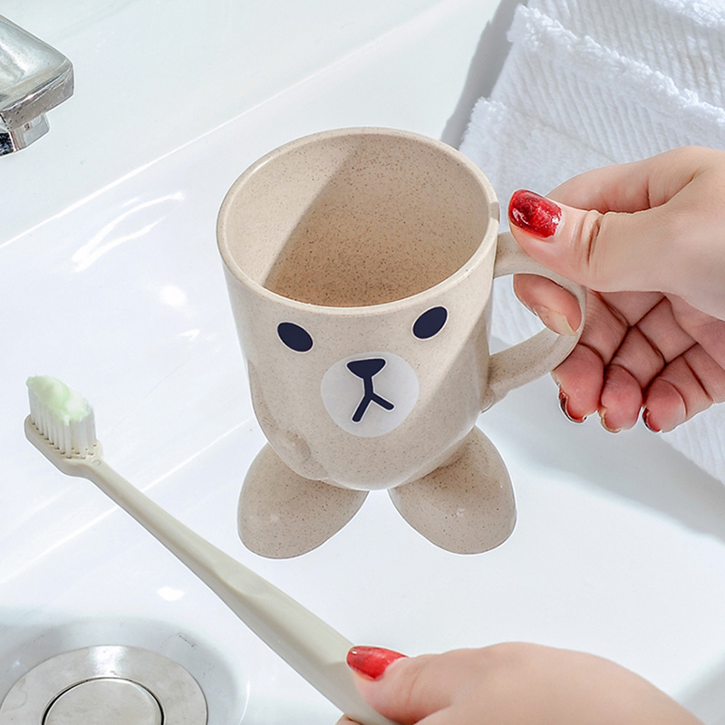 1pc Creative Cartoon Pattern Toothbrush Cup Bathroom Gadget Travel Widget Toothbrush Holder Home Bathroom Gargling Accessories