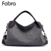 Fabra New Big Women Canvas Crossbody Bag Fashion Shoulder Bags Luxury Handbags Women Messenger Hobo Bags Casual Big Tote Grey