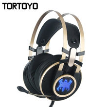 A1 Professional Gaming LED Lighting Headset Wired PC Headphone with Microphone Computer 7.1 Sound Channel Subwoofer Headphones