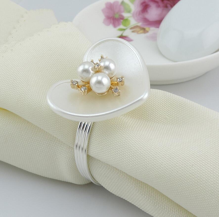 10 stücke ABS Herzform Kristall & perlen Staubblätter Blume - Küche, Essen und Bar
