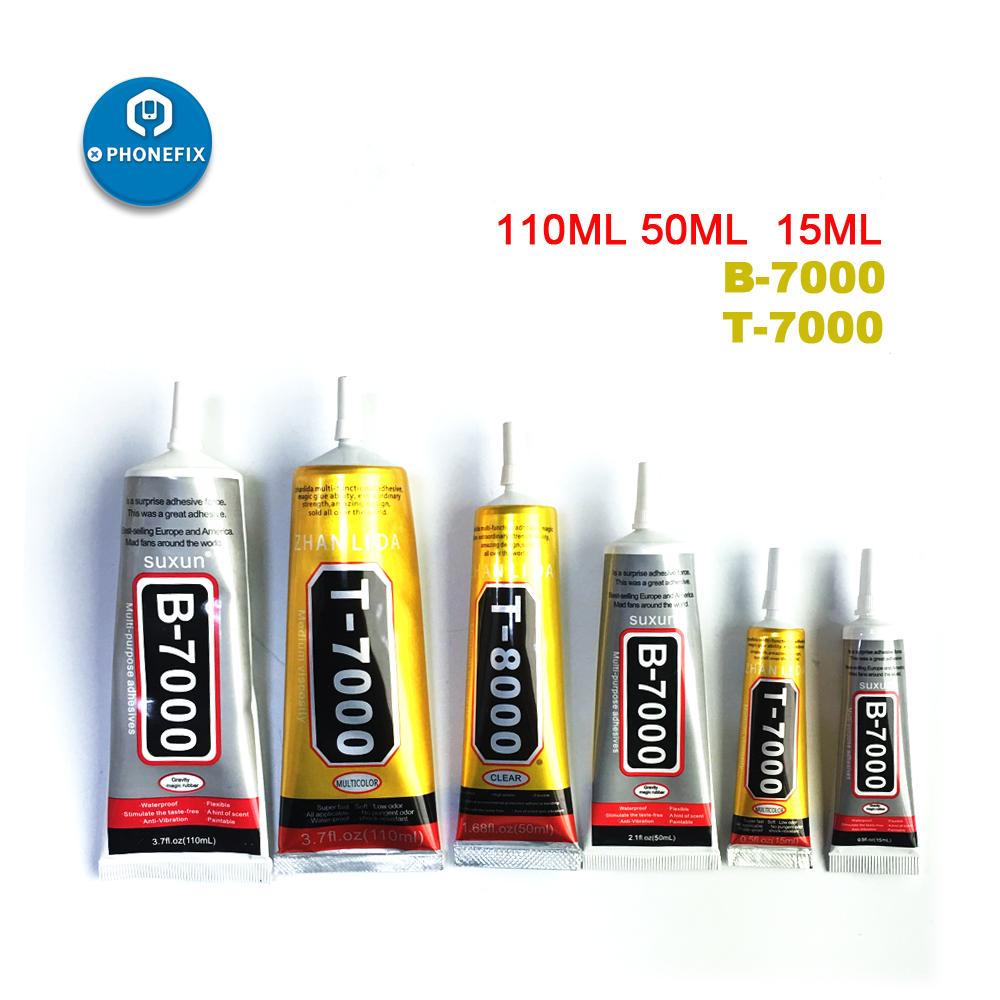 PHONEFIX 15 50 110ml Transparent Adhesive Clear Liquid Glue B7000 B8000 T7000 Mobile Phone Frame Fix LCD Screen Glass Glue