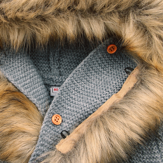 Warm Baby's Hooded Knitted Jackets