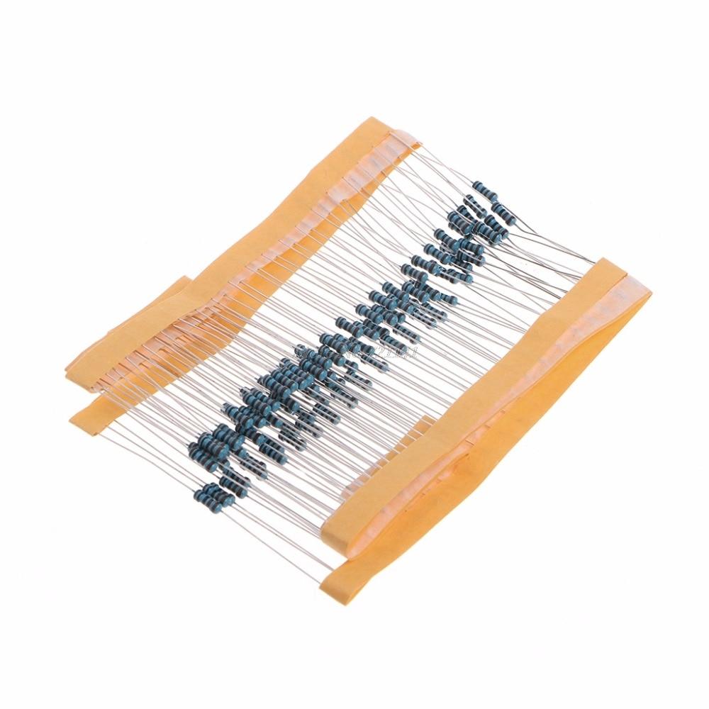 100 Pcs 1k Ohm 1/4W Metal Film Resistor 1kohm 0.25W 1% Metal Film Resistors Dropship