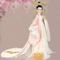 35cm Traditional Chinese Dolls Vintage Collectible Girl Doll With Flexible 14 Joints Body Souvenir Birthday Gifts