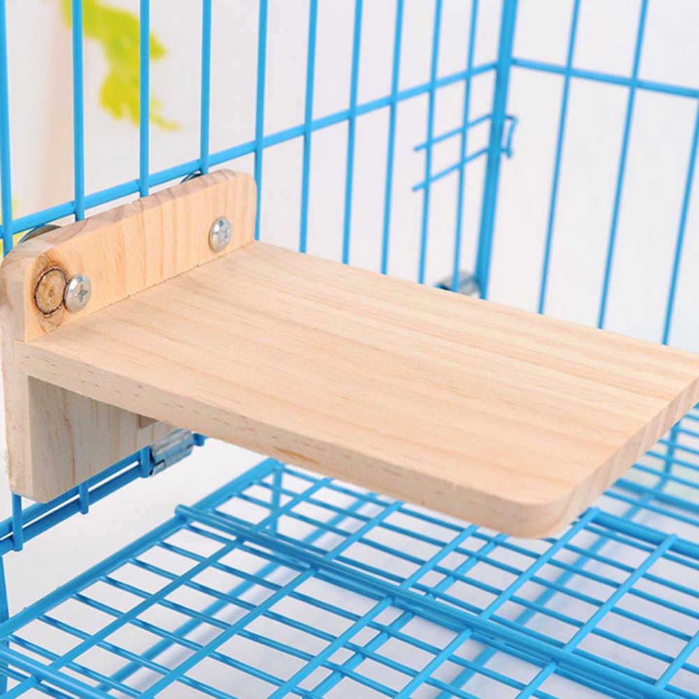 Placa Retangular de madeira Escalada Brinquedo de Estimação Hamster Cobaia Esquilo Ornamento Brinquedo Pedal Gaiola do animal de Estimação Quente