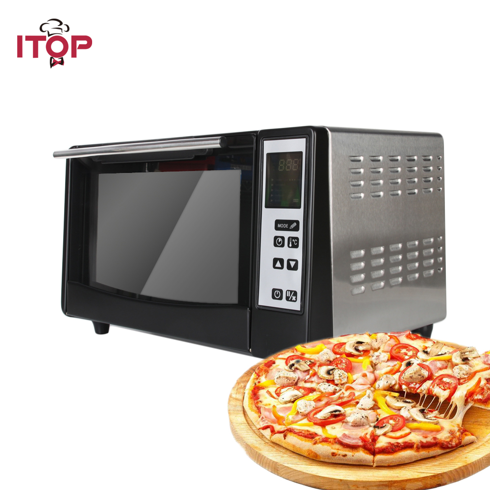 все цены на ITOP Kitchen Infrared Oven 1300W 10L Household Cooker 5 Cooking Modeswith pizza stone, grill net, baking tray онлайн