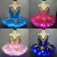 Led Professionl Ballet Tutu Swan Lake Ballet Costume Ballerina Dress Kids Child Ballet Tutu Skirt Dance Dress For Girls Adult