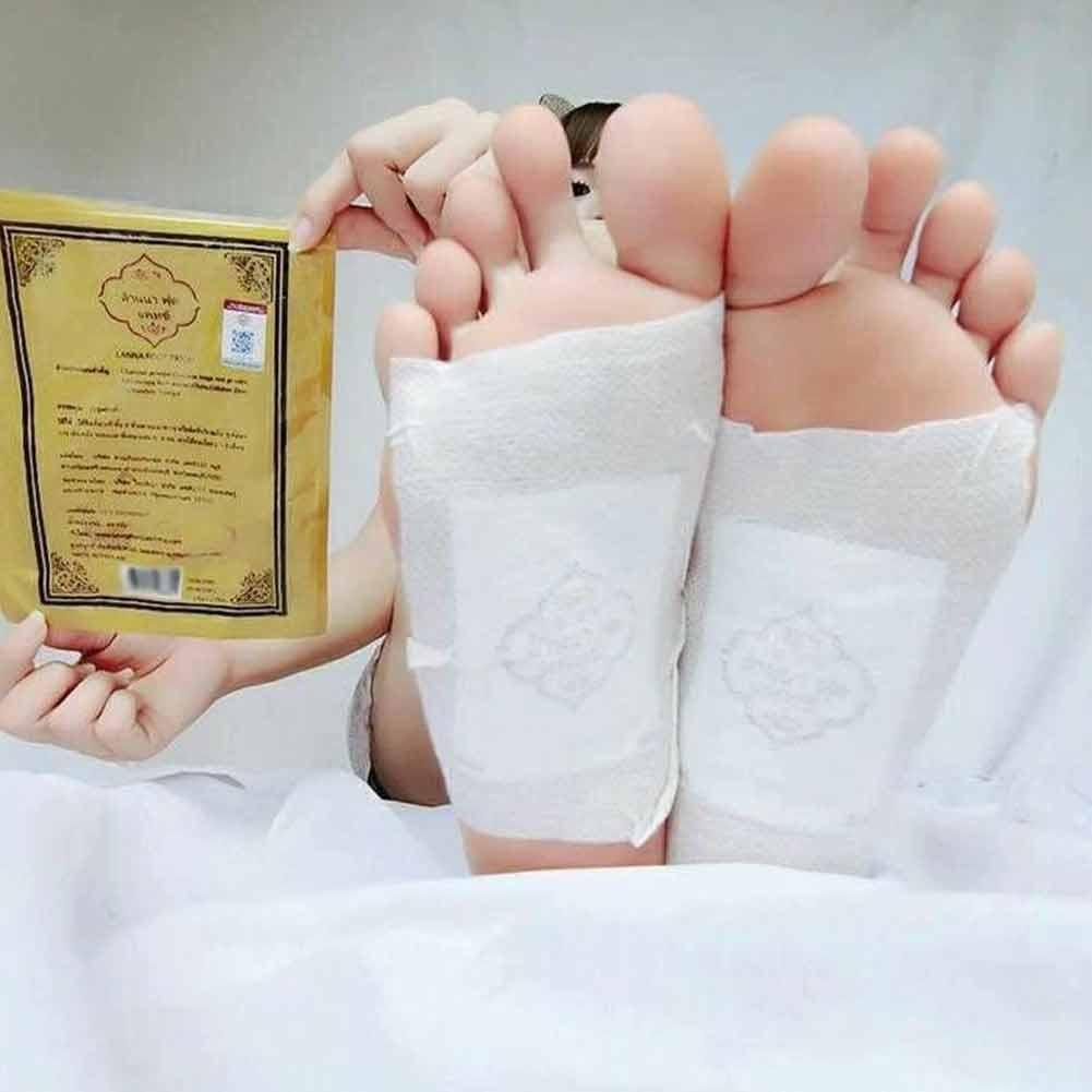 10Pc Thailand LANNA traditionellen Leckerbissen Detoxify Toxins Adhesive Keeping Fit Organic Herbal Patches Foot Patch Pads 3
