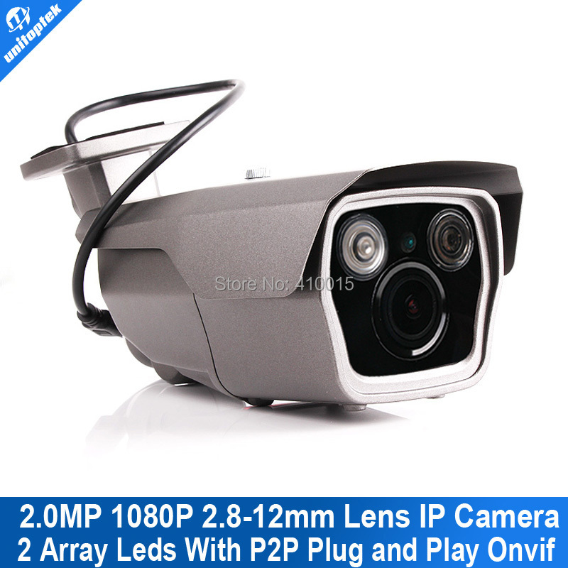 ФОТО 1080P IR Bullet 2.0MP IP Camera Outdoor 2 Megapixel 4X Zoom 2.8~12mm Vari-Focal Lens IR 40m Support Onvif P2P Cloud