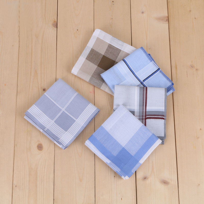 Freeshipping 12pcs 40*40cm New 100% Cotton Handkerchiefs Business Men Handkerchief