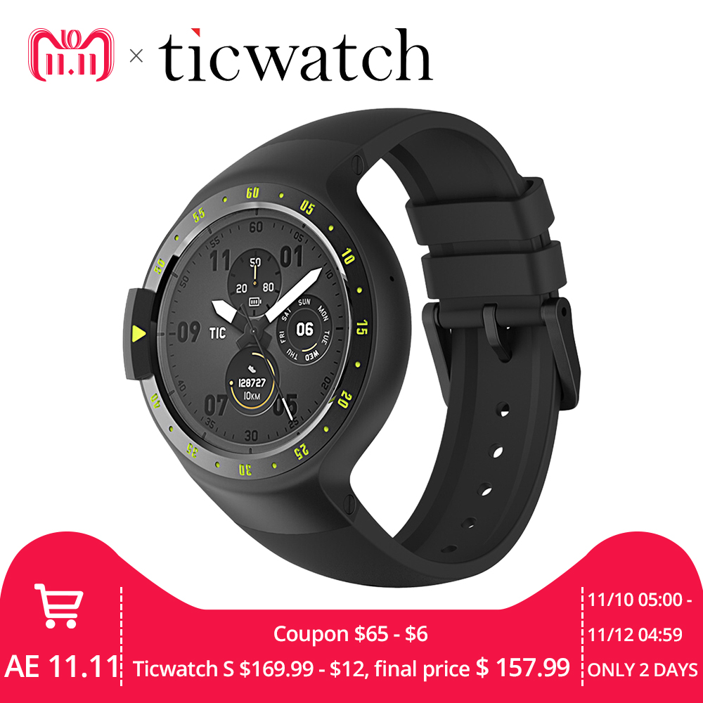 Reloj inteligente Original Ticwatch S Knight Wear Android 2,0 Bluetooth 4,1 WIFI Frecuencia Cardíaca IP67 impermeable incorporado GPS reloj deportivo
