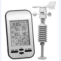 Профессиональный беспроводной Метеостанция анемометр с датчиком направления ветра цифровой измеритель температуры и влажности
