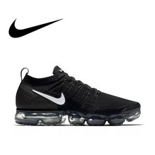 size 40 736a0 21fe5 Original NIKE AIR VAPORMAX FLYKNIT 2.0 Authentic Mens Running Shoes  Breathable Sport Outdoor Sneakers Durable Athletic 942842