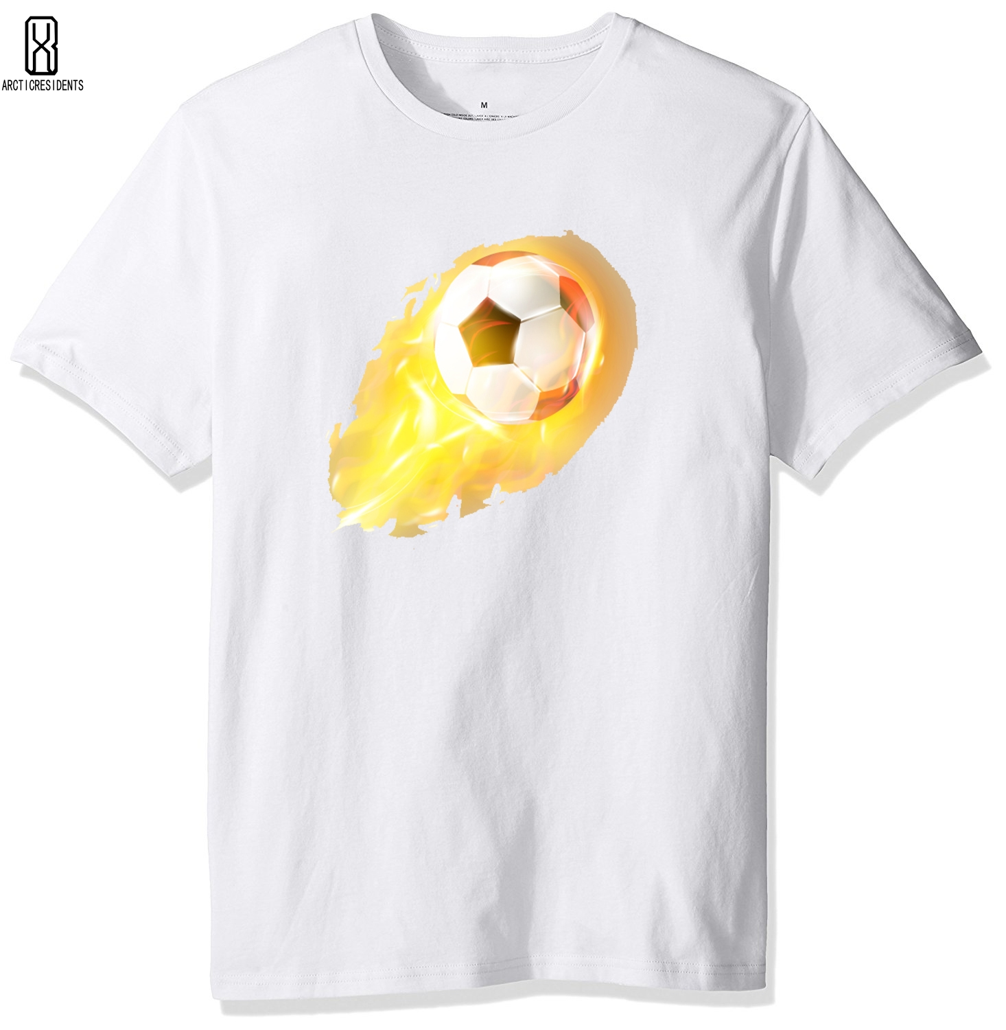 2018 new mens T-shirt fashion summer fireball print T-shirt Young short sleeved T-shirt