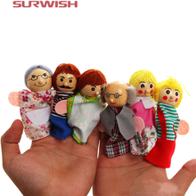Surwish 6PCS/Set Family Finger Puppets Storytelling Doll Kids Children Baby Educational Toys