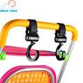 2 pçs/set ABS multiuso conveniente seguro gancho giratório gancho carrinho de criança carrinho de bebê carrinho de criança carrinho de bebé acessórios preto durável