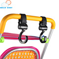 2pcs/set ABS multipurpose convenient safe swivel hanger stroller pushchair hook baby carriage stroller accessories black durable