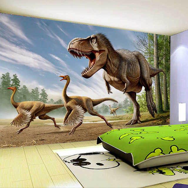 Custom Mural Wallpaper 3D Stereo Dinosaur Background Wall Decoration Painting Living Room TV Childrens Bedroom