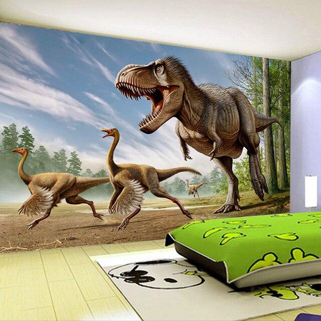 Custom Mural Wallpaper Stereo Dinosaur Background Wall Decoration Painting Living Room Tv Children S Bedroom