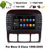 1024 600 Quad Core Android 5 1 1 Car DVD Player For Mercedes Benz S Class