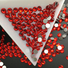 Good Quality light Siam DIY Strass Crystal ss3-ss34 Non HotFix Nail Art Flatback Rhinestones for Clothes Decorations