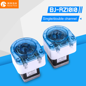 Compact Small Peristaltic Pump Stepper Motor High Precision Low Flow Single Double Channel