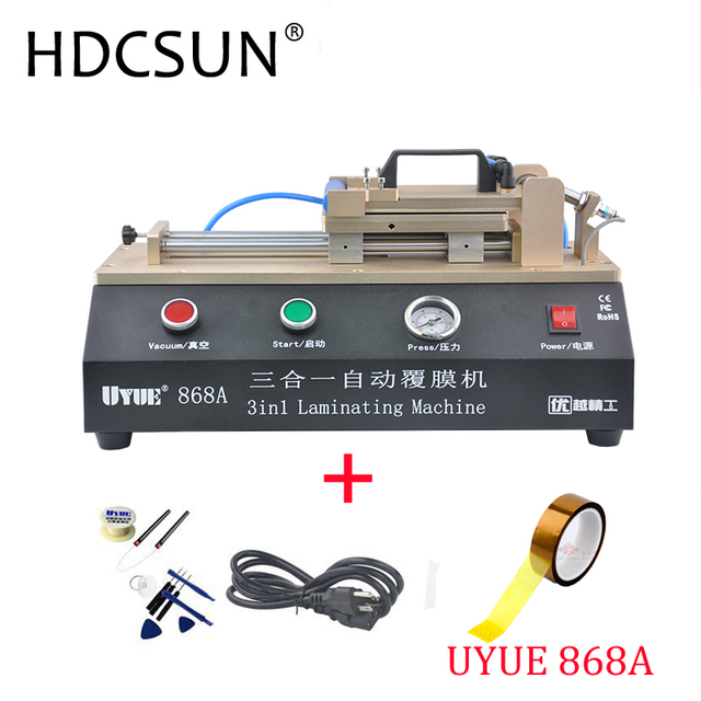 3-in-1 Automatic OCA Film Laminating Machine With Built-in Vacuum Pump and Air Compressor For LCD Screen Repair with gift