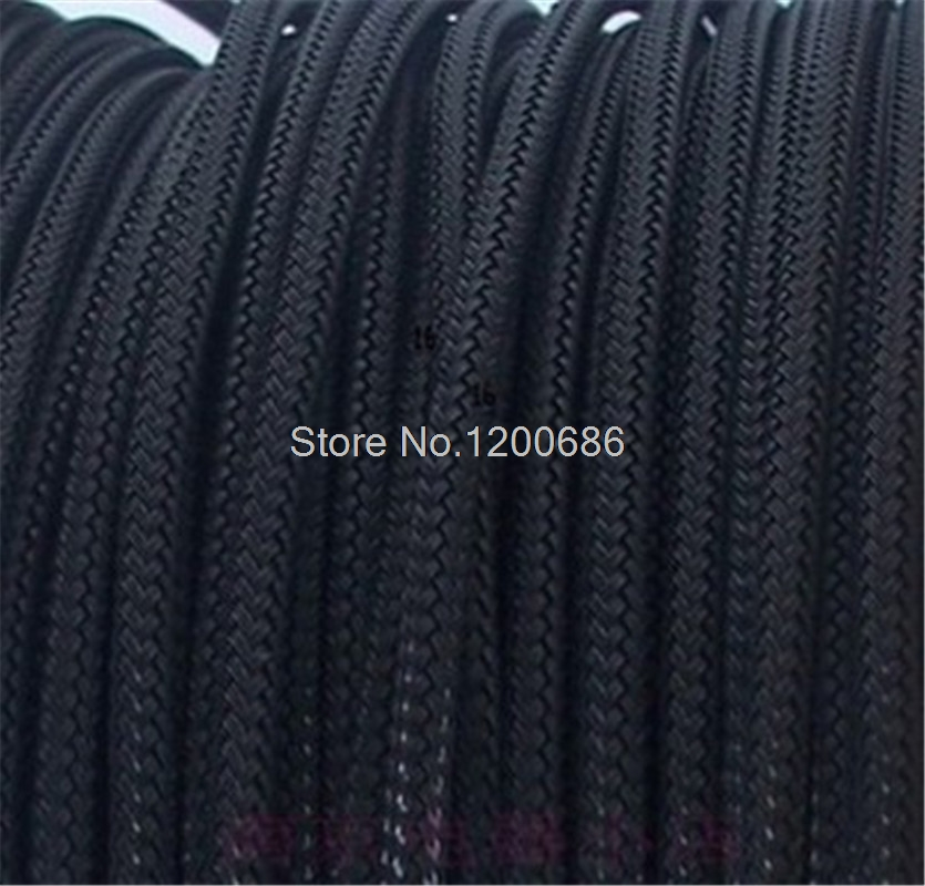 10m 3MM 16AWG 18AWG <font><b>Cable</b></font> Protection <font><b>Sleeve</b></font> Net Wire Protection Black Nylon Braided <font><b>Cable</b></font> <font><b>Sleeve</b></font> PCI-E <font><b>PSU</b></font> power <font><b>cable</b></font> <font><b>Sleeve</b></font> image