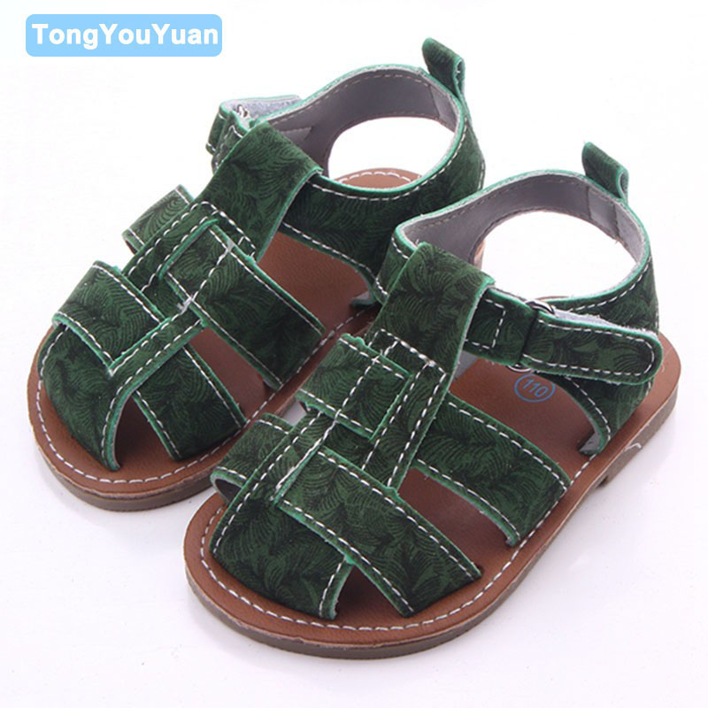 New Arrival 2 Colors Hard Sole Rubber Outdoor Prewalker Baby Boy Shoes Sandals For 0-15 Months