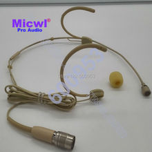 Cardioid Directional New design Comfortable Headset Microphone for Audio Technica Wireless Pocket - Hirose 4 pin