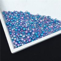 Mixed Size 3/4/5/6mm Mermaid Gradual Wrinkle, Phantom Color, Porous Pearl DIY Nail Pearl Japanese Abrasive Pearls for Craft