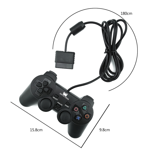 Data Frog Wired Gamepad Controller For Sony PS2 Double Vibration Controller Gamedpas Joystick For PlayStation 2