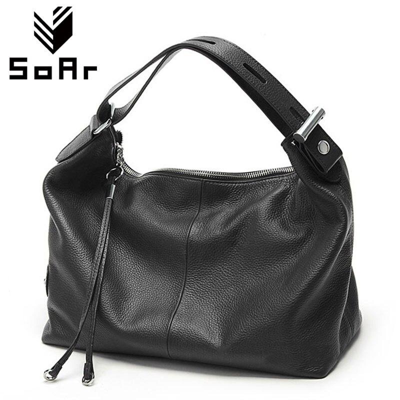 SoAr Genuine leather bag luxury handbags women bags designer women shoulder messenger bags top-handle bags new fashion vintage