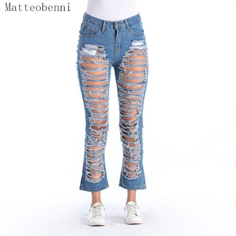 2018 Freund Loch Zerrissene Jeans Frauen Hosen Kühlen Denim Vintage Gerade Jeans Für Mädchen Der Mittleren Taille Beiläufige Weibliche Dünne Mom Jeans