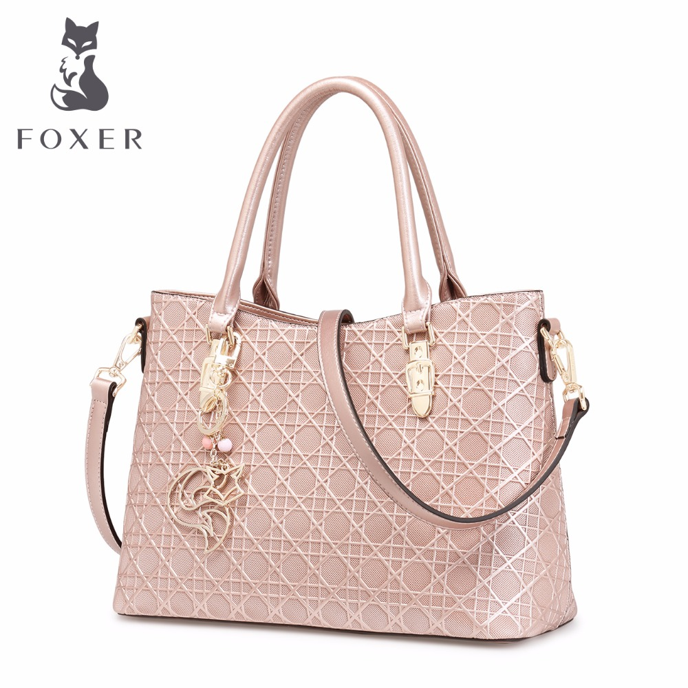 FOXER women luxury handbag split leather bags OL tote fashion shoulder bag women messenger bag designer handbags Diamond Pattern new split leather snake skin pattern women trunker handbag high chic lady fashion modern shoulder bags madam seeks boutiquem2057