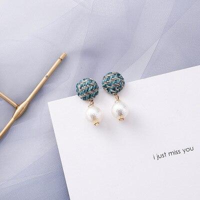 AOMU coréen bleu géométrique acrylique irrégulière cercle creux carré balancent des boucles d'oreilles pour les femmes en métal bosse fête plage bijoux 23