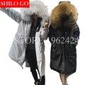 TOP Free shipping Plus size 2016 fashion new women high-quality raccoon fur long fur collar thin thick warm warm down jacket