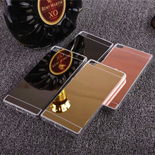 Luxury Mirror Electroplating Soft Clear TPU Cases For Huawei P8 case For Huawei P8 lite Back Cover Bags PK Huawei case P9 cover