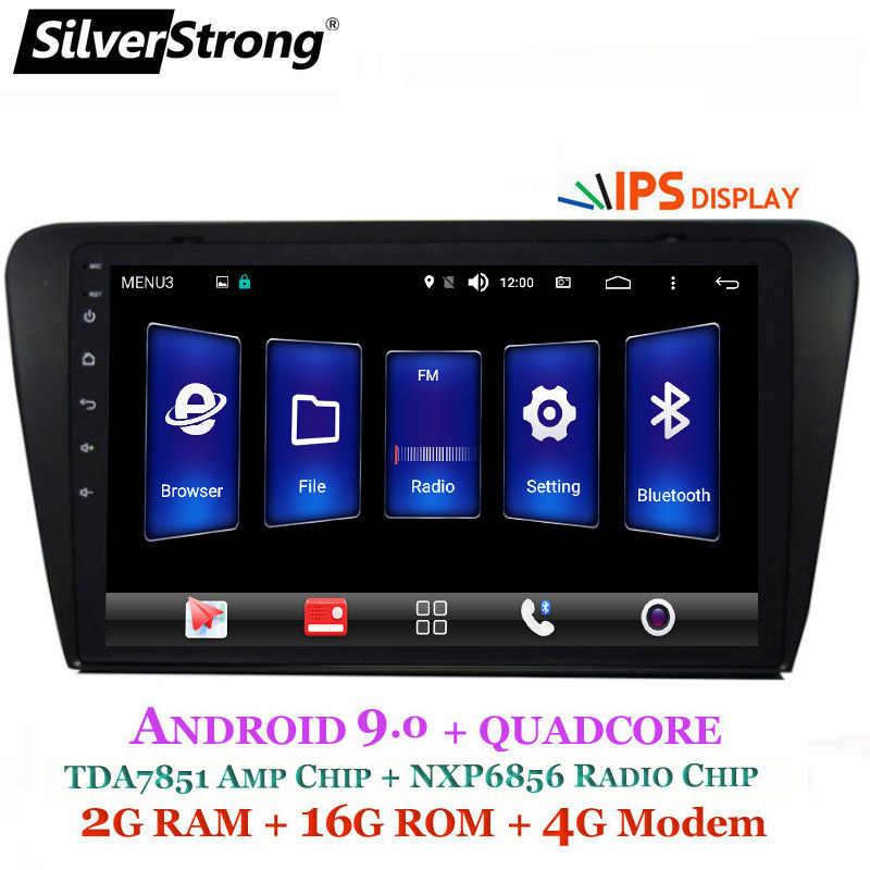 SilverStrong 9 pulgadas IPS pantalla coche 2Din Radio Android9.0 para Skoda Octaiva A7 octavia3 2013-2017 Android Radio RDS TPMS