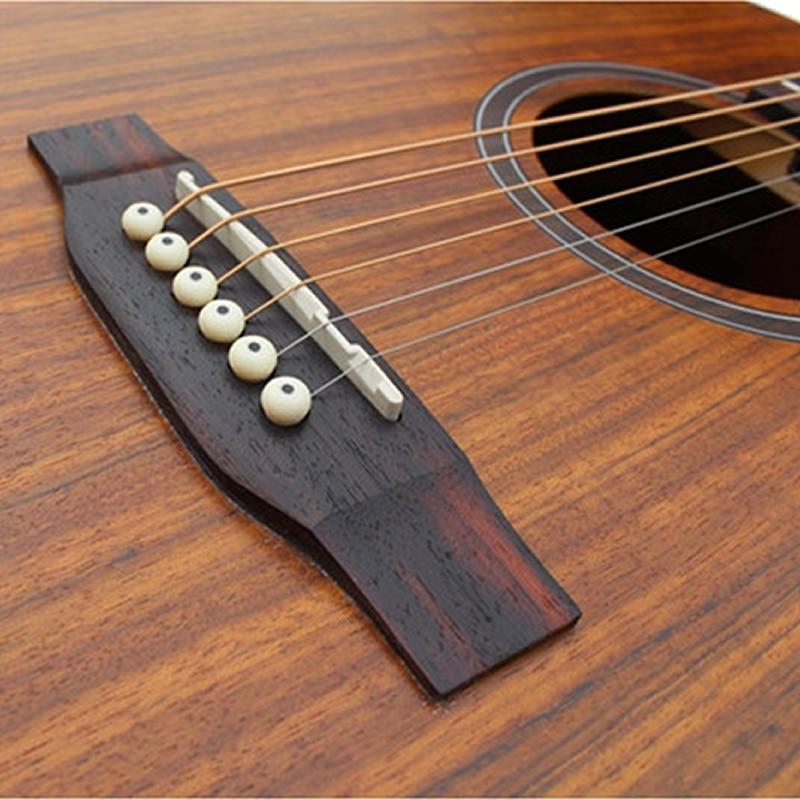 SAYSN 41 Mahogany Acoustic Guitar Rosewood Fingerboard Circular Bead Guitarra Musical Instrument for Beginner Students Novice
