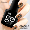 Verntion 8ml New Arrival Crackl Lacquer Nail Art UV LED Shatter Nails 12 Colors Cracking UV cheap Nail Gel Polish