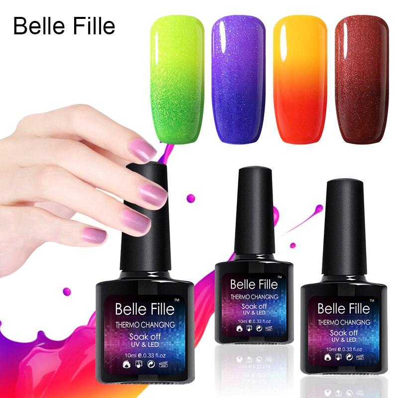 Belle Fille színváltozás Hőmérséklet gél nai lengyel UV 10ml - Köröm művészet