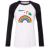 IDzn Nuevo de Las Mujeres Casual Camiseta del Death metal música heavy unicornio Modelo del arco iris de Colores Camiseta Manga Larga de la Muchacha Camiseta de la Señora Tee Tops