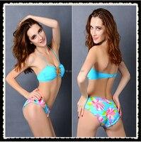 2015 Hot Sale Woman S Crystal Bikini Set Retro Swimwear Swimsuit Push Up Brazilian Biquini Beachwear