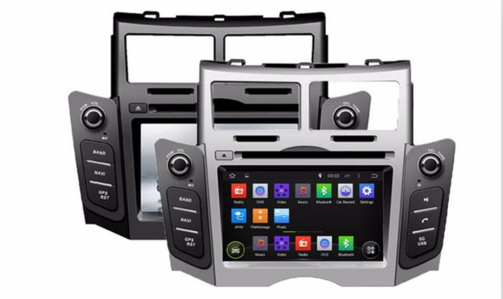 2 GB di RAM 32 GB ROM Octa Core PX5 Android 6.0 3G/4G WIFI DAB + Car DVD Multimedia Player Radio Stereo GPS Per TOYOTA YARIS 2005-2011