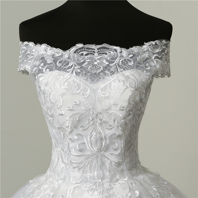 Luxury Lace Embroidery Wedding Dresses
