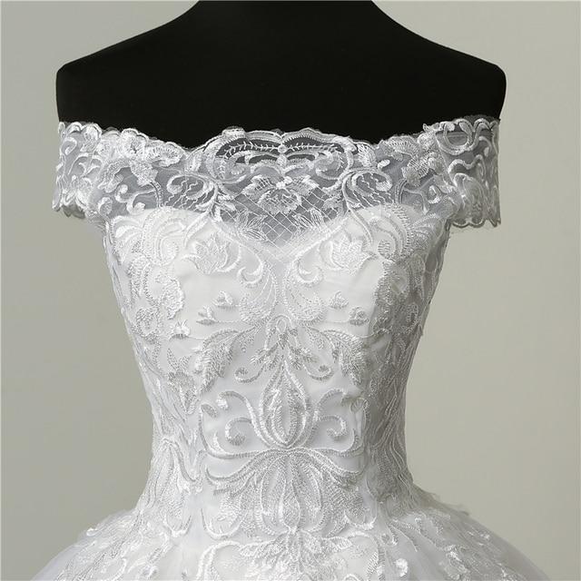 30% Discount Luxury Lace Embroidery 2020 Wedding Dresses 100cm Long Train Sweetheart Elegant Plus size Vestido De Noiva Bride 4